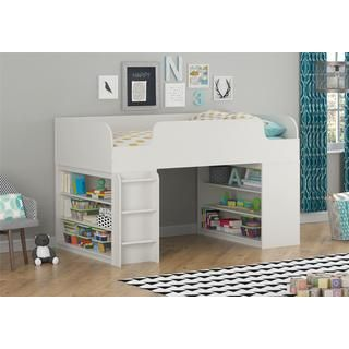Altra Elements White Loft Bed with Two Bookcases by Cosco - 17510730 - Overstock.com Shopping - Great Deals on Altra Kids' Beds