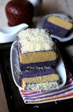 Cake Lapis Talas dengan Vla Talas