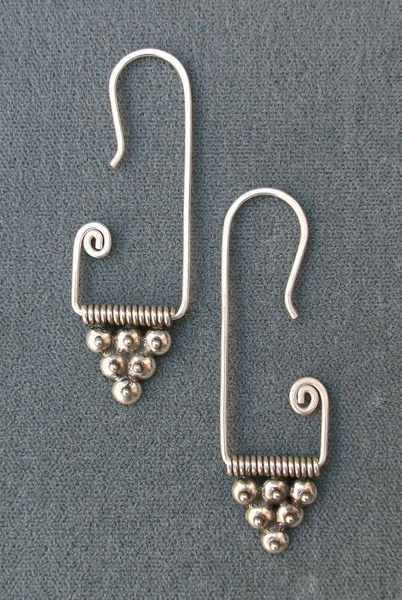 Sterling Silver Berry Swirl Earrings / Free US by KRDesign on Etsy, $45.00
