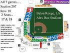 #Ticket  LSU Baseball Alex Box / Skip Bertman Field Regional Tickets for 2 all 7 games #deals_us
