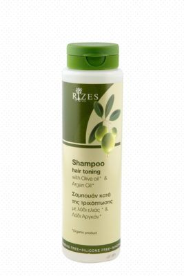 Haar toning shampoo met olijfolie en arganolie. Shampoo tegen haaruitval