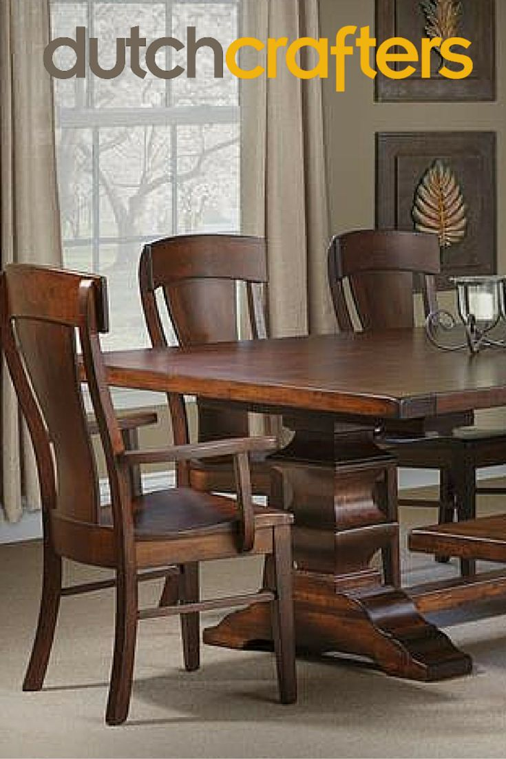 Gallery pictures for good quality dining chairs carson armchair amish - Amish Ramsey Dining Room Table