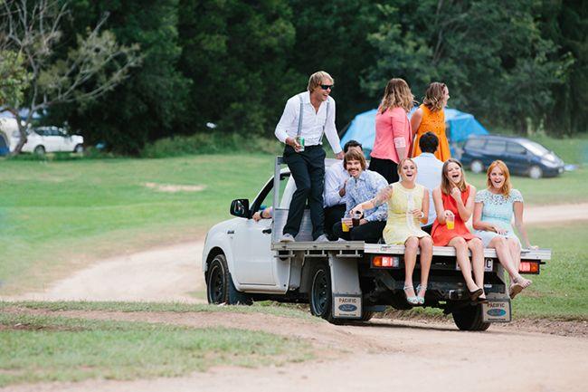 Country wedding. Ute wedding transport. Real Wedding: Kayla and Jesse in Kenilworth   The Bride's Tree - Sunshine Coast Wedding