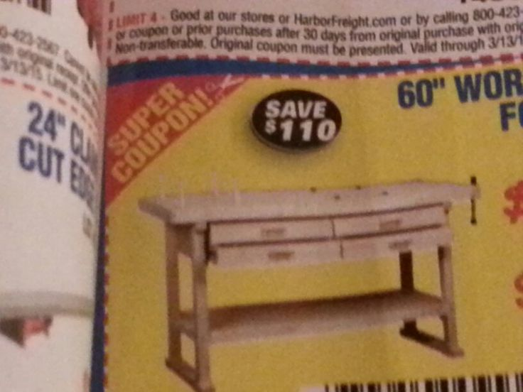 Workbench from Harbor freight