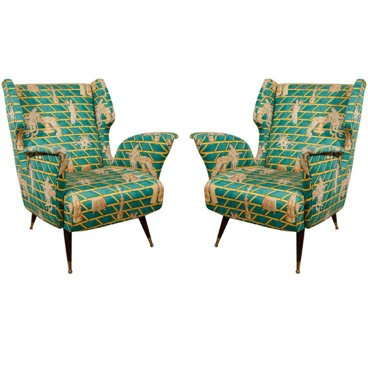 Superb Pair Of Gio Ponti Club Chairs
