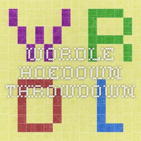 Wordle - hoedown throwdown