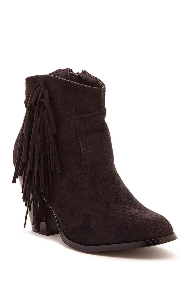 69e44c544e105 Charles Albert Women s Fringed Stacked Heel Ankle Boot with Side Zipper   fashion  clothing  shoes  accessories  womensshoes  boots (ebay link)