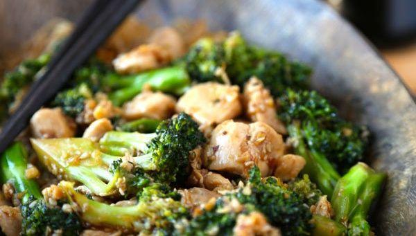 Жареная курица с брокколи - Рецепт