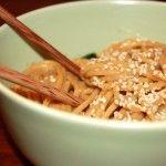 Sesame peanut noodles (low FODMAP)