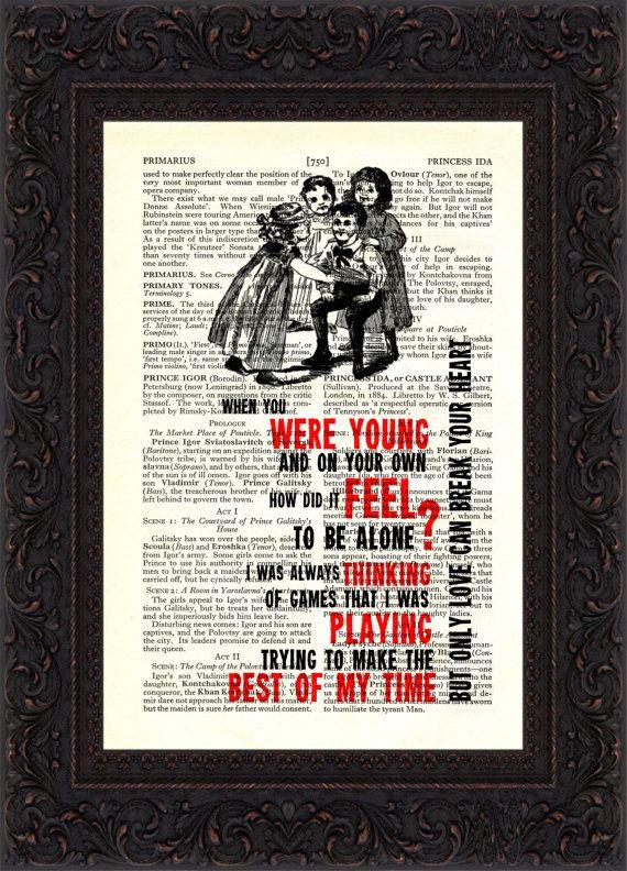 The Eagles Desperado Song Lyrics Print On By ForgottenPages