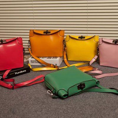Da Mulher Shoulder Bag PU Vintage Leather doces colorem
