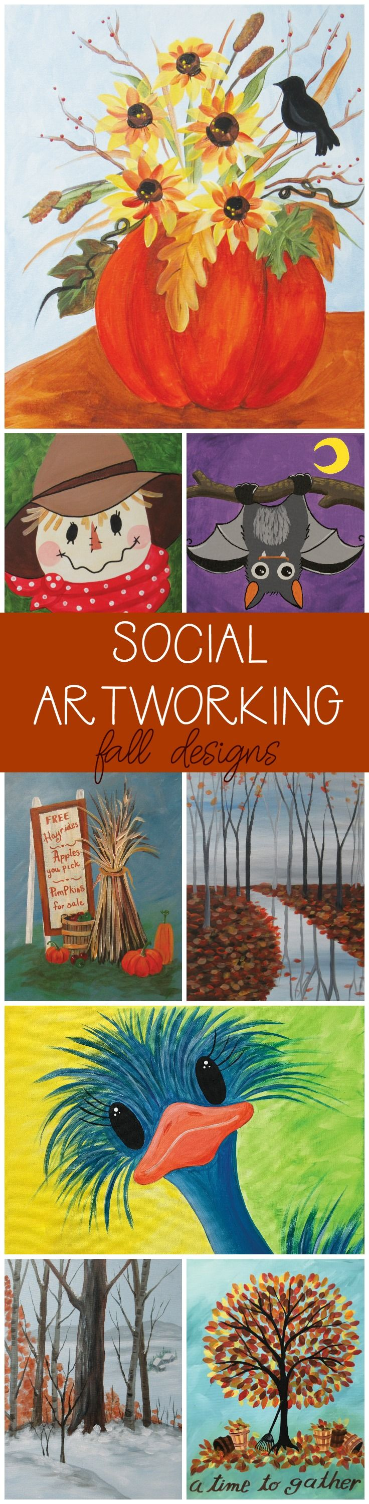 Social Artworking | Fall Canvas Painting Designs