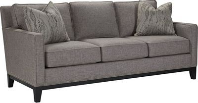 Markham Sofa   Crisp, clean. Not unlike a fine wine. The Markham Sofa presents a traditional look. Track arms. Nailhead trim. Wood front and side rails. Tapered legs. Choose the Impressions fabric that suits your transitional décor. Invite friends over. Relax and repeat.