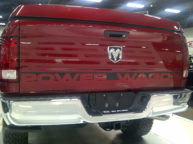 Power Wagon!! Dodge 1500, classy red colour!