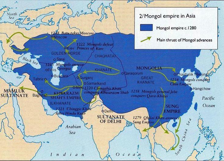 Iran Politics Club: Iran Historical Maps 8: Kharazm-Shahid Kingdom, Mongol Occupation, Timurids