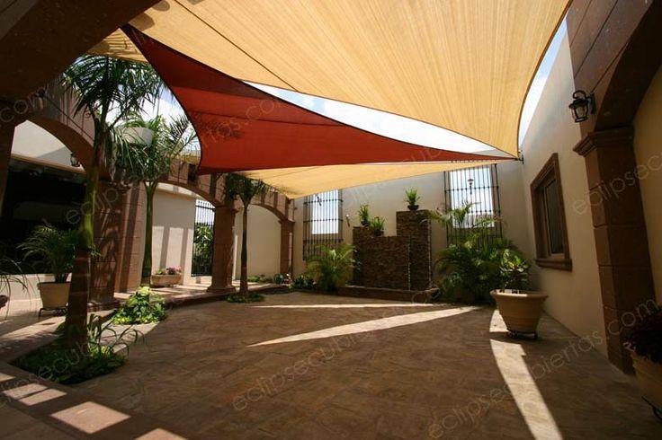 Mallasombra tensoestructuras velarias parasoles lonas - Toldos para patios ...