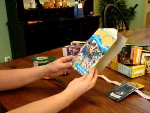 """Girl Scout Cookie Box Change Purse... repurpose a cookie box! (ties in nicely with """"using resources wisely."""")"""