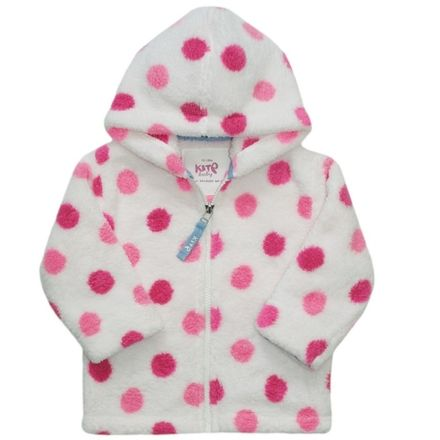 Kite Pink Spotty Zip Through Fleece
