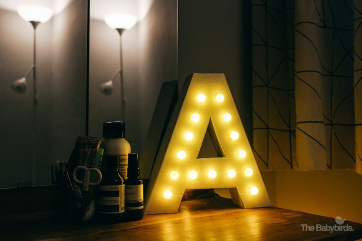 DIY Marquee Letter Light