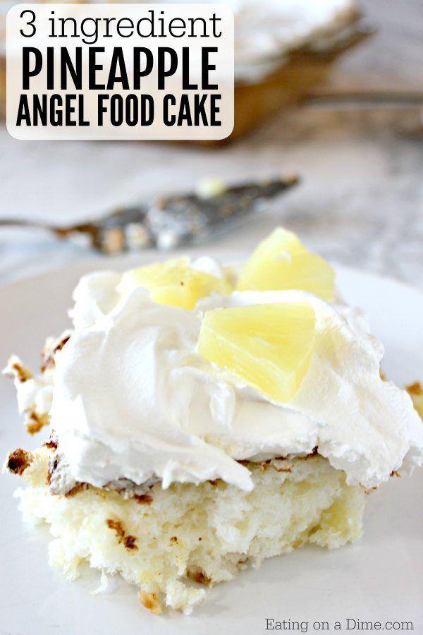 2 Ingredients Pineapple Angel Food Cake Recipe Pineapple Angel