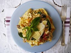 Fettuccine with salted duck egg and creamy sauce