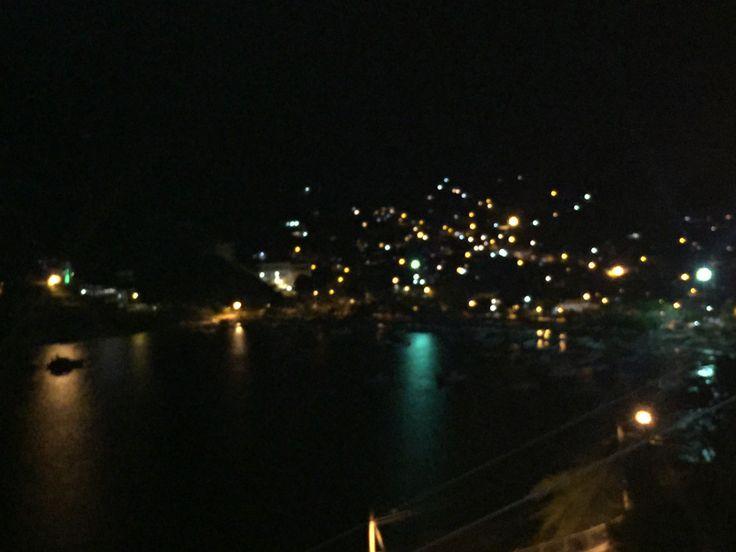 Taganga port near Santa Marta Colombia by night
