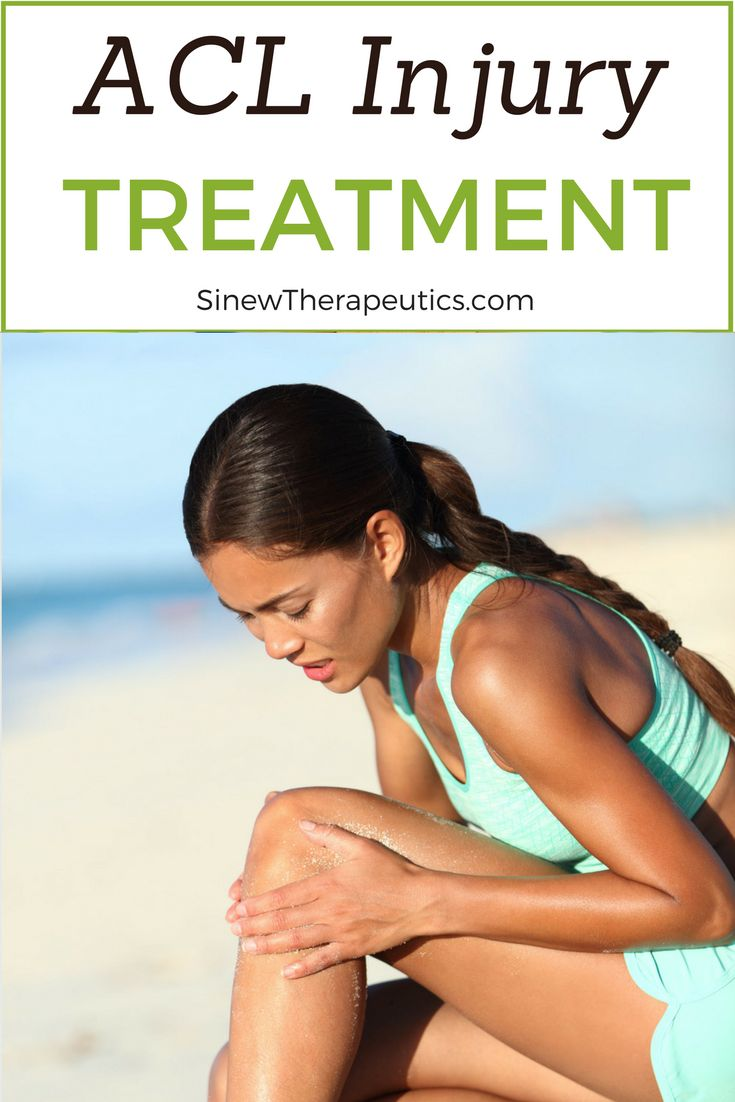 ACL Injury Treatment - If you have visible swelling, apply the Sinew Herbal Ice on the area to reduce redness, swelling, and inflammation while dispersing accumulated blood and fluids to help restore normal circulation to the ankle. This first-aid treatment is used in place of ice to significantly speed up the healing process. Learn more at SinewTherapeutics.com