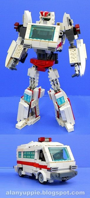 LEGO Transformer Ratchet - This is at least five kinds of awesome.