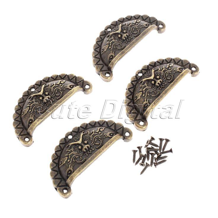 $2.55 (Buy here: https://alitems.com/g/1e8d114494ebda23ff8b16525dc3e8/?i=5&ulp=https%3A%2F%2Fwww.aliexpress.com%2Fitem%2F4PCS-Antique-Bronze-Furniture-Handles-Chinese-Vintage-Handle-Cabinet-Hareware-Dragon-Shell-Knobs-Dresser-Drawer-Pull%2F32635457605.html ) 2016 New 4Pc Antique Bronze Furniture Handles Vintage Handle Cabinet Hareware Dragon Shell Knobs Dresser Drawer Pull Handle Knob for just $2.55