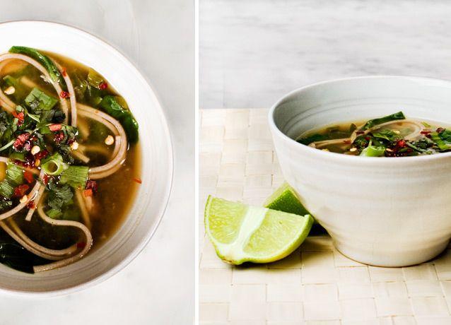 Soba Noodle SoupFun Recipe, Vegan Noodles Recipe, Eating, Spinach, Soup Recipe, Soba Noodles Soup, Noodle Soups, Lemon, Food Drinks