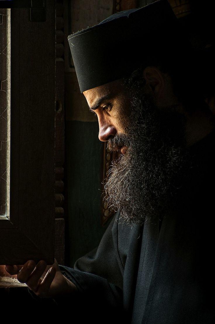 Orthodox Monk, Oasa Monastery, Romania by Grigore Roibu