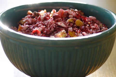 Raw Vegan Cranberry Relish, such a great side dish