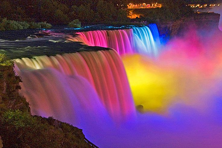niagara falls at night | Buffalo - Niagarafälle (New York)                                                                                                                                                     Mehr
