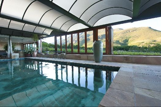 Indoor pool at the Lanzerac Spa, Stellenbosch, Western Cape, South Africa
