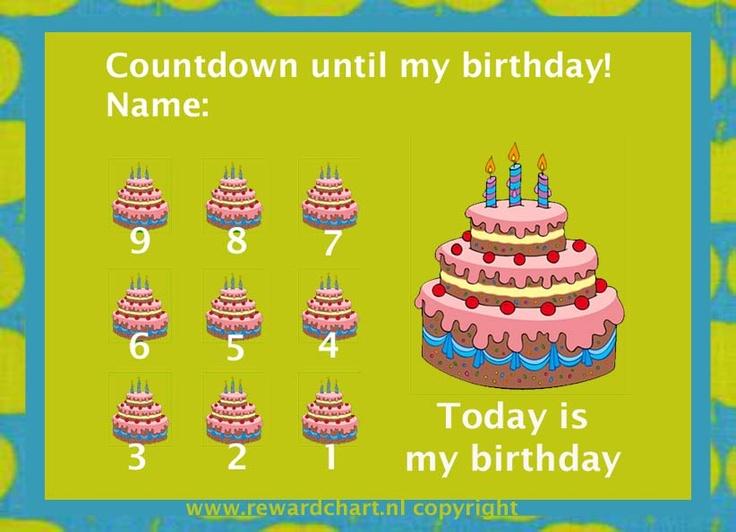 Countdown until your child's birthday