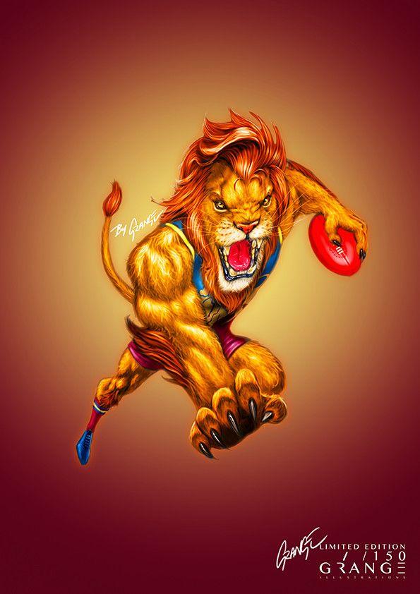 The Courageous Lion' Print by Grange Wallis