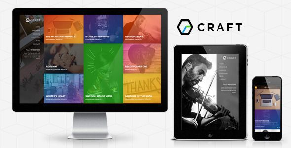 Gridcraft WP: Full Screen Grid + Slider Portfolio