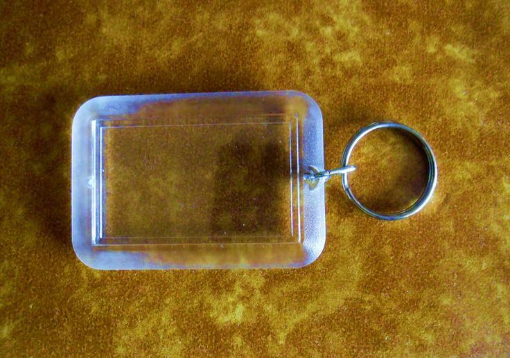 Porte-Clé personnalisé photo cristal rectangle Le prix sont pour un pièce : Supports petits accessoires par ninita
