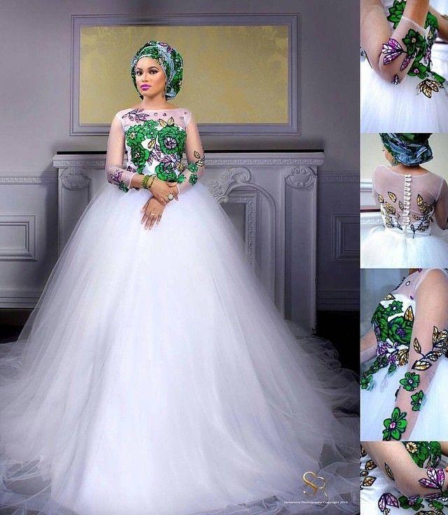 "We love ""The Ankara Bride"" by @badaskyfashionhouse"