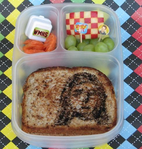#Lunchbox a la #GLEE ! Grilled Cheesus #Bento