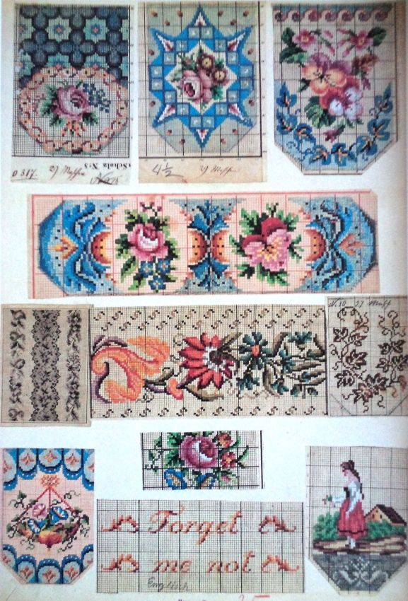 Berlin WoolWork Patterns For Victorian Purses 2