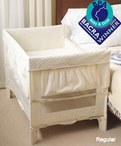 I plan to get one of these with our next little one. It's an arms reach cosleeper.