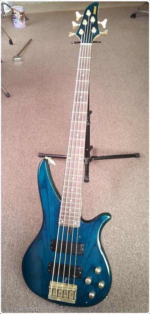 Yamaha RBX 765a 5 String Bass Blue Green | Reverb | Yamaha Basses in