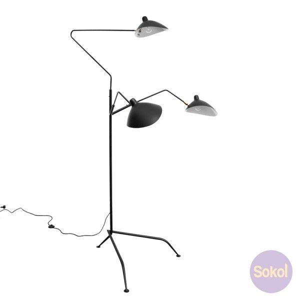 1000 ideas about standing lamps on pinterest floor standing lamps unique lamps and lamps - Serge mouille three arm floor lamp ...