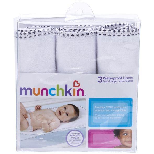Munchkin 3pk Waterproof Changing Pad Liners In 2020 Changing Pad Liner Waterproof Changing Pad Baby Changing Pad