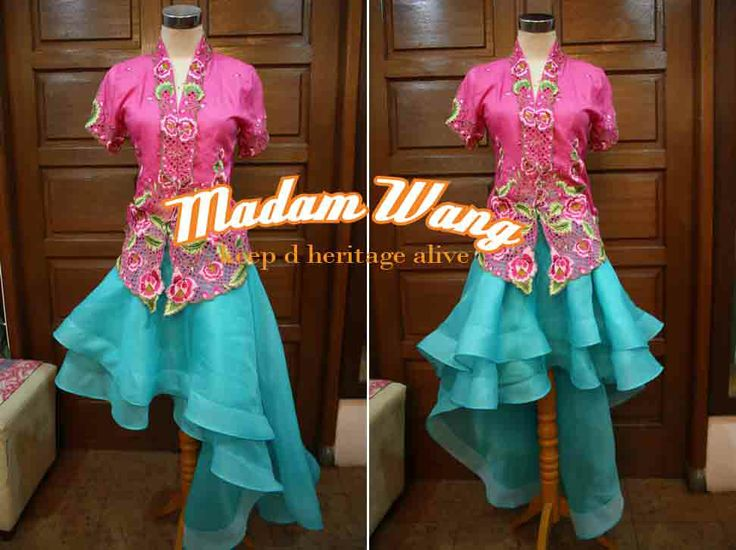 kebaya encim pink, organdy turquoise skirt, party attire, party outfit, kebaya indonesia