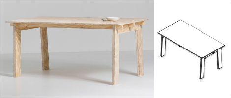 Mooi design voor iedereen! Maak je eigen robuuste tafel van één plaat underlayment: een goed idee van KARWEI.