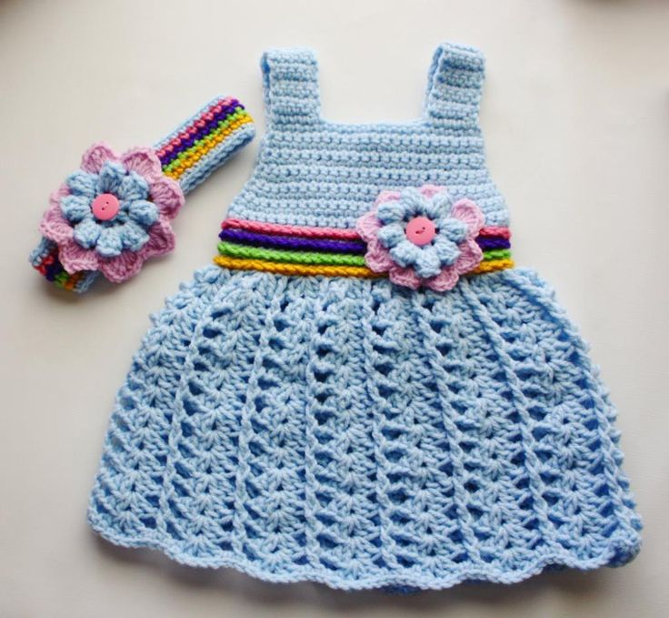 This Crochet Baby Dress is so adorable! Free pattern
