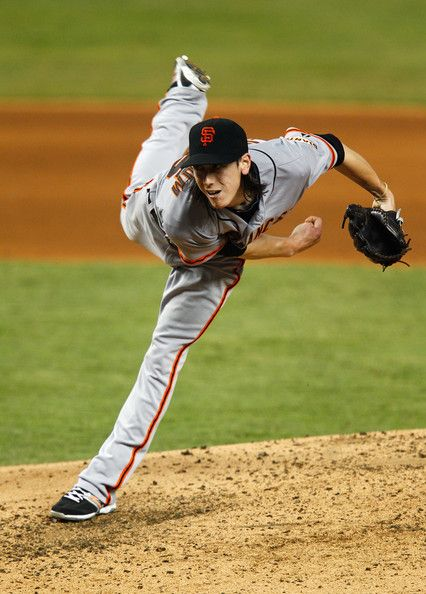 Tim Lincecum Photo - San Francisco Giants v Miami Marlins. They call his the freak... dirty.
