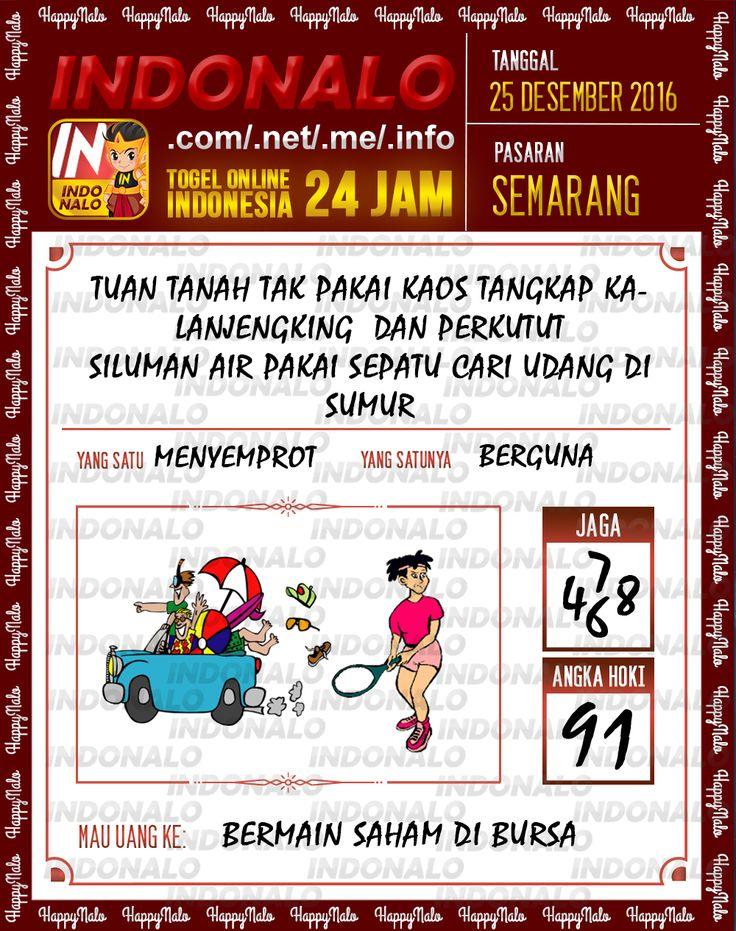 Kode Wangsit 2D Togel Wap Online Live Draw 4D Indonalo Semarang 25 Desember 2016